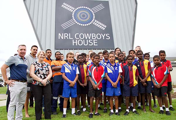 New training and recreational space for NRL Cowboys House