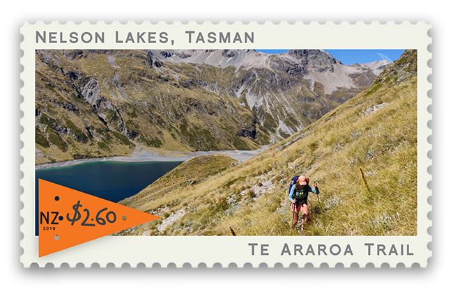 Te Araroa trail celebrated in New Zealand postage stamp series