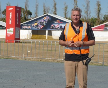 Eventfloor Australia helps APP Corporation deliver F1 Grand Prix grass protection and portable floor
