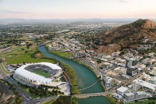 Construction advances at North Queensland Stadium in Townsville