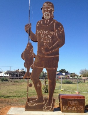 Big Bogan unveiled in NSW town of Nyngan