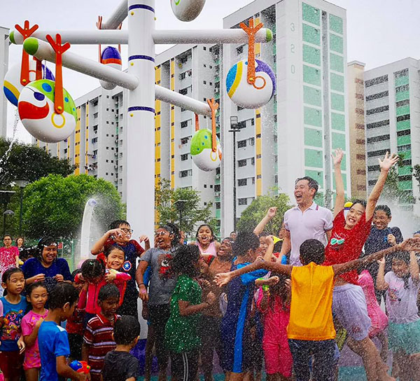 New community aquatic playground opens in Singapore