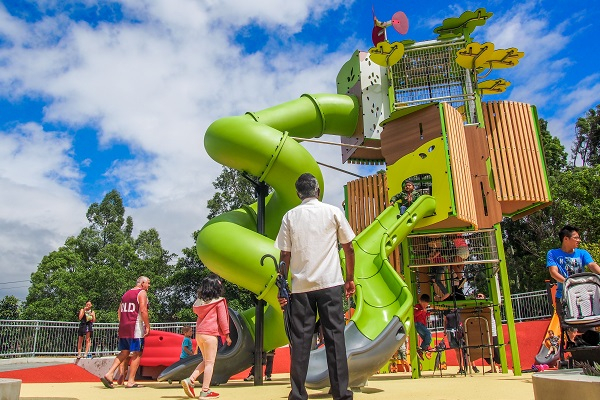 Inclusive playground and splash pad opened at Ollie Webb Reserve in Parramatta