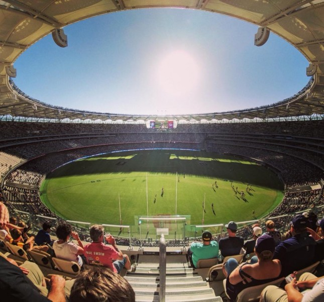 Optus Stadium welcomes record crowd for AFLW fixturew