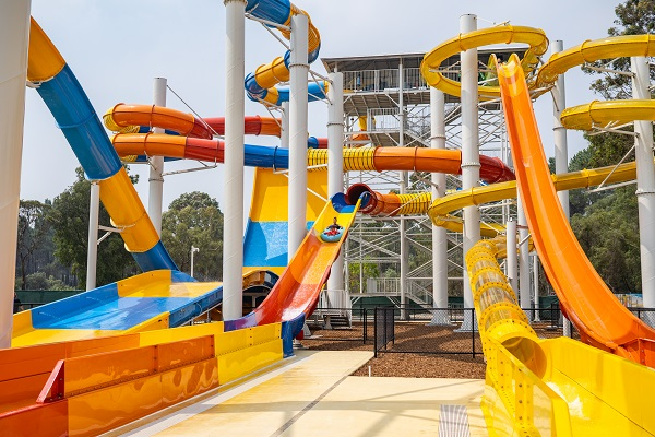 New waterslide tower opened at Perth's Outback Splash