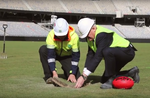 Perth Stadium playing surface installation completed
