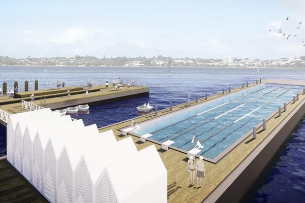 Plans revealed for floating pool in central Perth