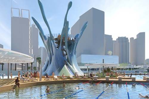 Floating pool proposed for Swan River at Perth's Elizabeth Quay