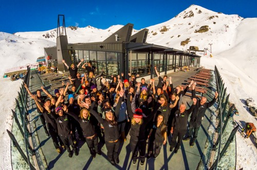 Bluebird opening at The Remarkables celebrates great snow and new base building