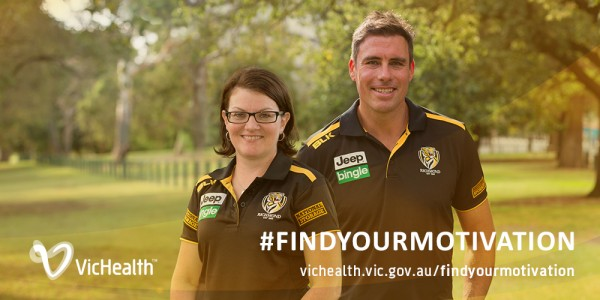 Richmond Football Club promotes female fitness in partnership with VicHealth
