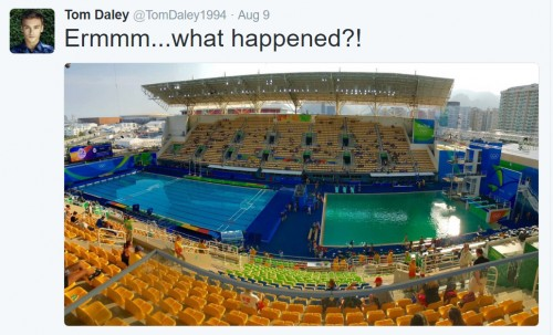 So why did Rio's Olympic diving and water polo pools turn green?