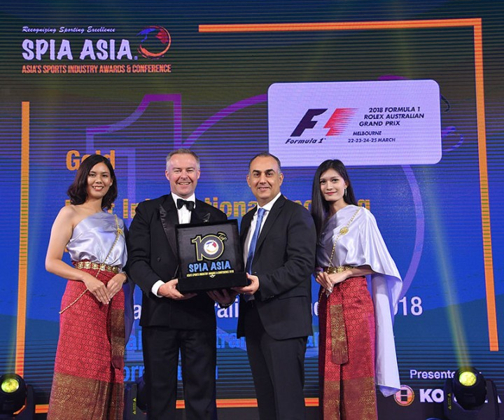 Formula 1® Australian Grand Prix awarded 2018 Best International Sporting Event of the Year