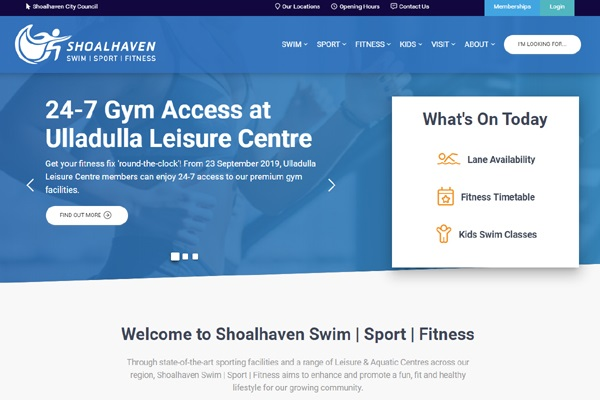 Shoalhaven City Council delivers updated online access to aquatic and fitness facilities