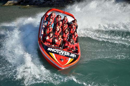 Royals enjoy adrenalin thrills on 'the world's most exciting jet boat ride'