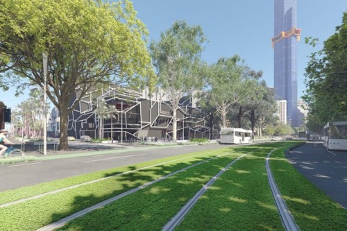 Plan revealed to convert road lane to park on Melbourne's Southbank