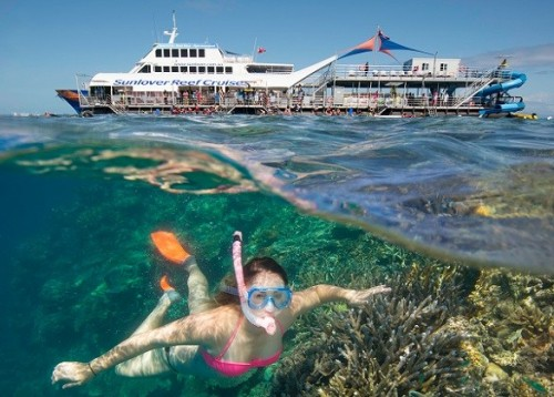 Sunlover Reef Cruises launches new pontoon for half day reef tour
