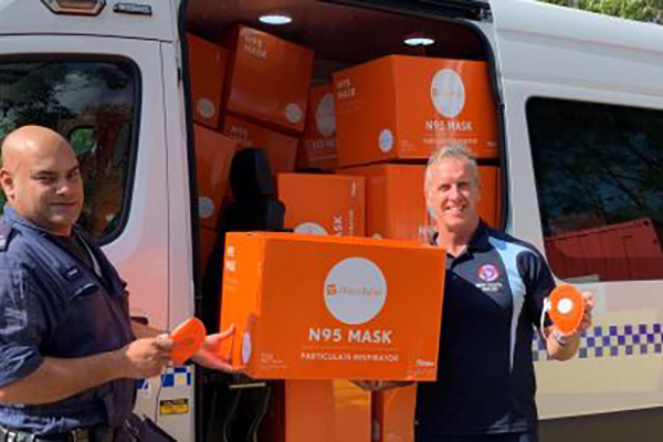 Surf Life Saving NSW donates protective equipment to frontline police