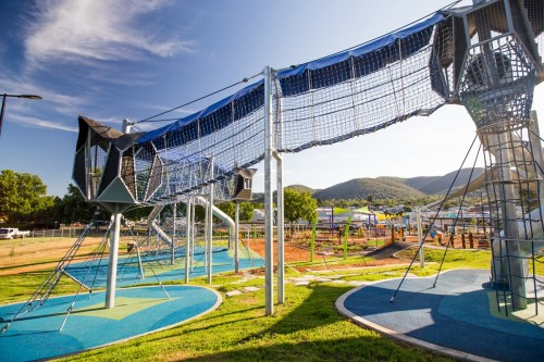 Tamworth Regional Playground combines adventure, exercise, fun innovation and nature