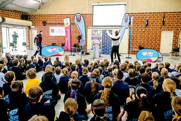 Tennis roadshow delivers 30,000 new racquets to primary school students to get them active