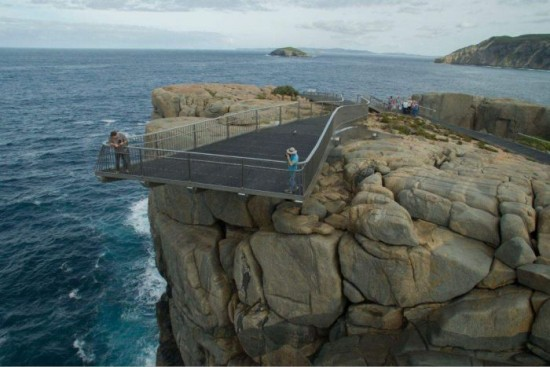 Daring cantilevered lookout opens on Western Australia's Southern Ocean coast