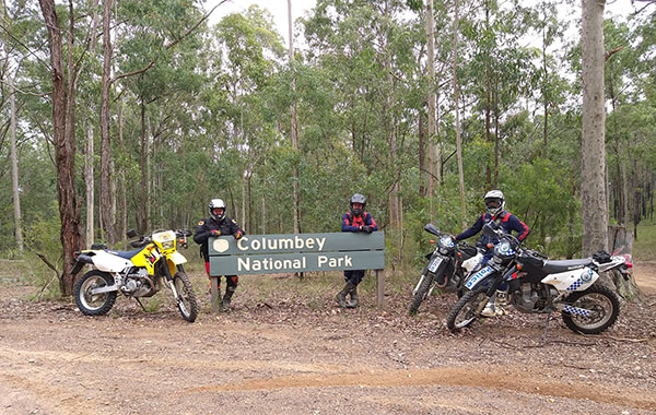 National Parks and Wildlife Service use trail bike patrols to ensure park safety