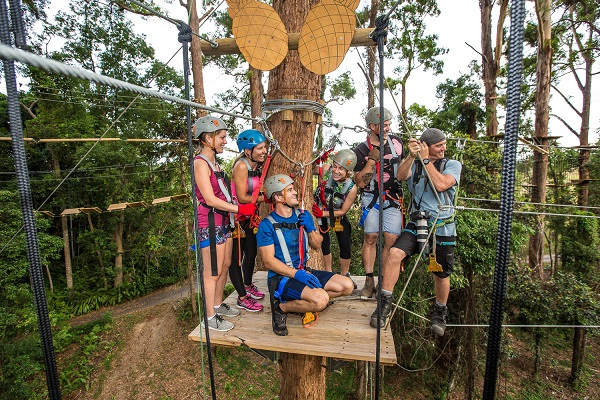 New Sunshine Coast high ropes course the 'most thrilling' in Australia