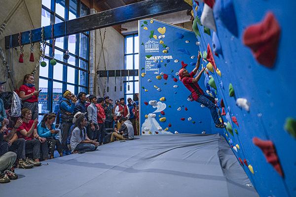 Nepalese Walltopia Climbing Wall helps develop safe climbing skills