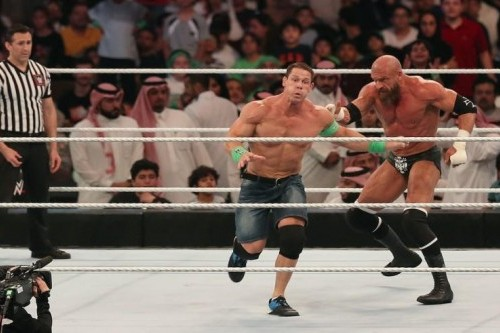 World Wrestling Entertainment stages first event in Saudi Arabia