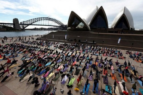 International Day of Yoga marked around the world