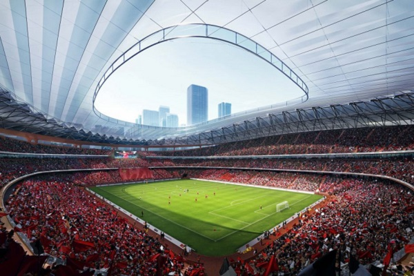 Plans unveiled for new football stadium in China's ancient capital