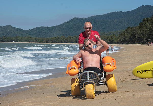 Cairns Regional Council purchases beach wheelchairs and mobi mats for inclusive access