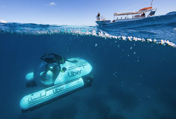World-first rideshare submarine experience launched on Great Barrier Reef