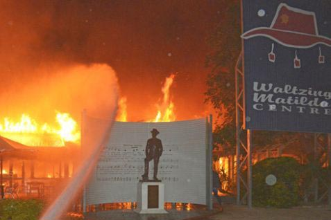 Fire damages Waltzing Matilda Centre in Winton
