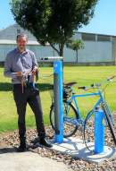 Bike maintenance station installed along Mount Gambier's Rail Trail