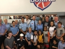 Arnold Schwarzenegger visits South Sydney PCYC in Redfern