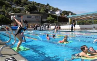Milestone opening for lyttelton 39 s summer pool for Opening pool for summer