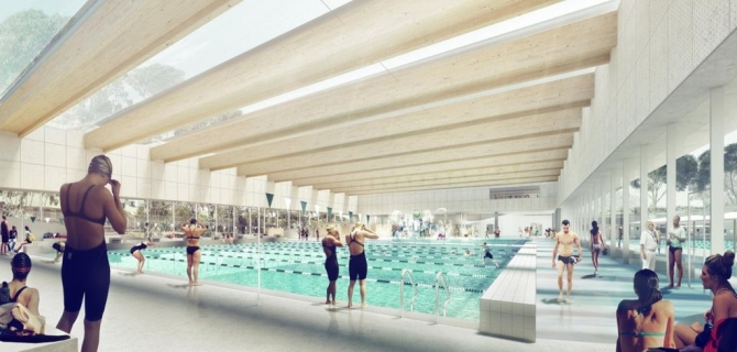 Green square aquatic centre architects set ambitious sustainability target australasian for Swimming pools target australia